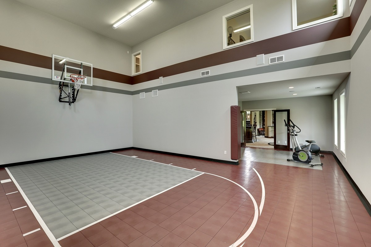 Home plans with indoor sports courts home design and style for Indoor basketball court design