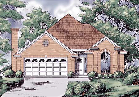 Southern charm in 3 versions 74046rd architectural for Southern charm house plans