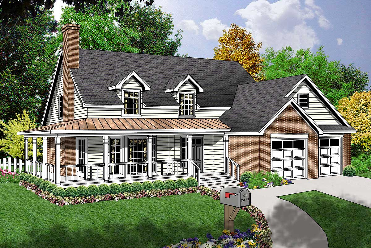 Charming country design 7405rd 1st floor master suite for Charming house plans