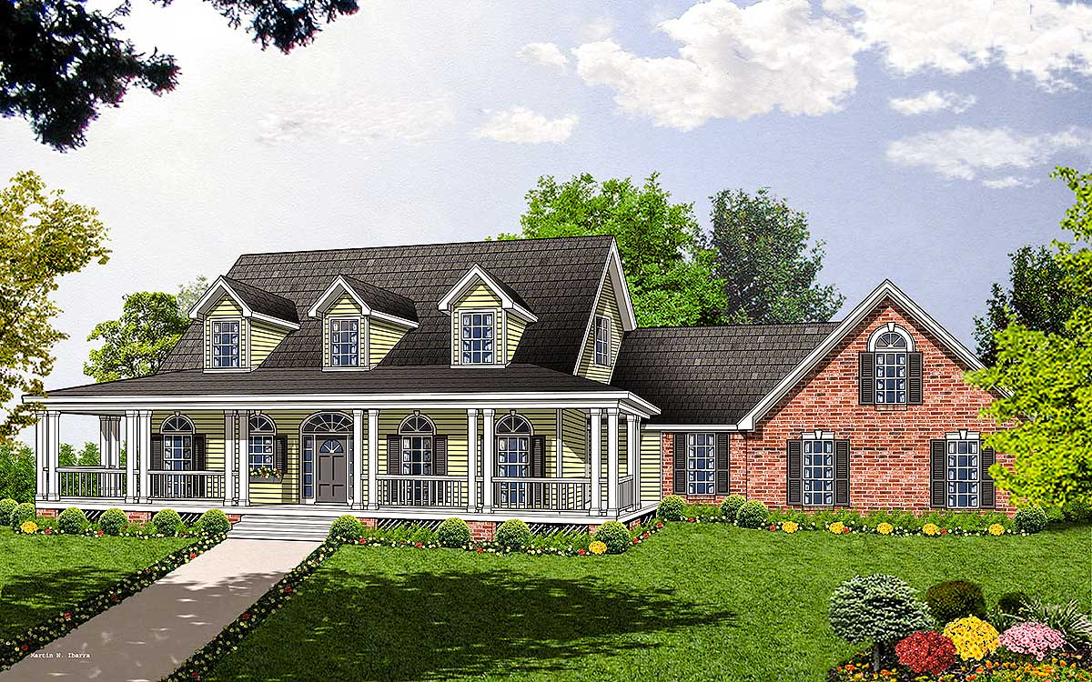 Spacious home plan with charming details 7408rd for Spacious house plans