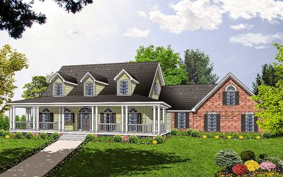Spacious Home Plan with Charming Details - 7408RD thumb - 01