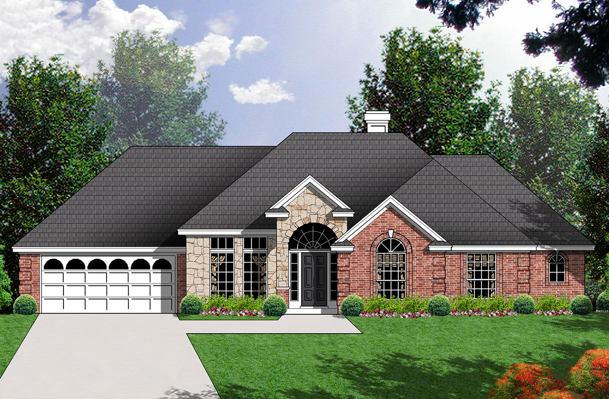 Inviting traditional home plan 7417rd architectural for Traditional farmhouse plans