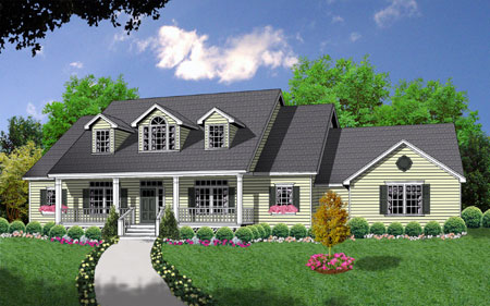 Bonus space over side entry garage 7423rd country 1st for House plans with side entry garage
