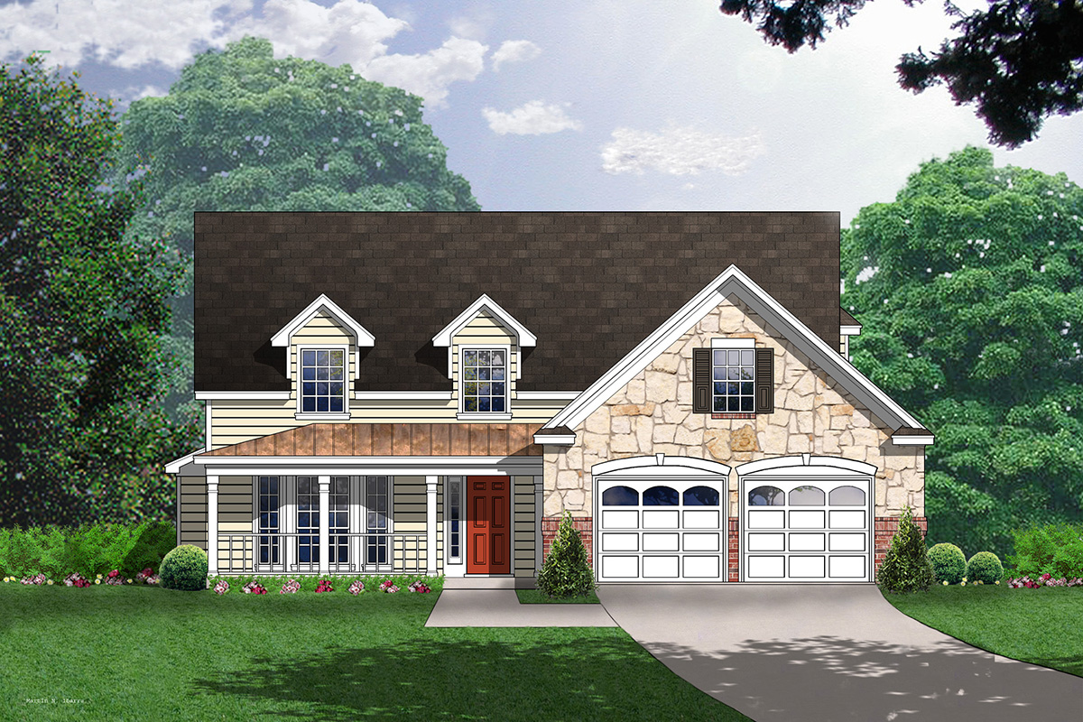 Exquisite country house plan 7475rd architectural for Exquisite home designs