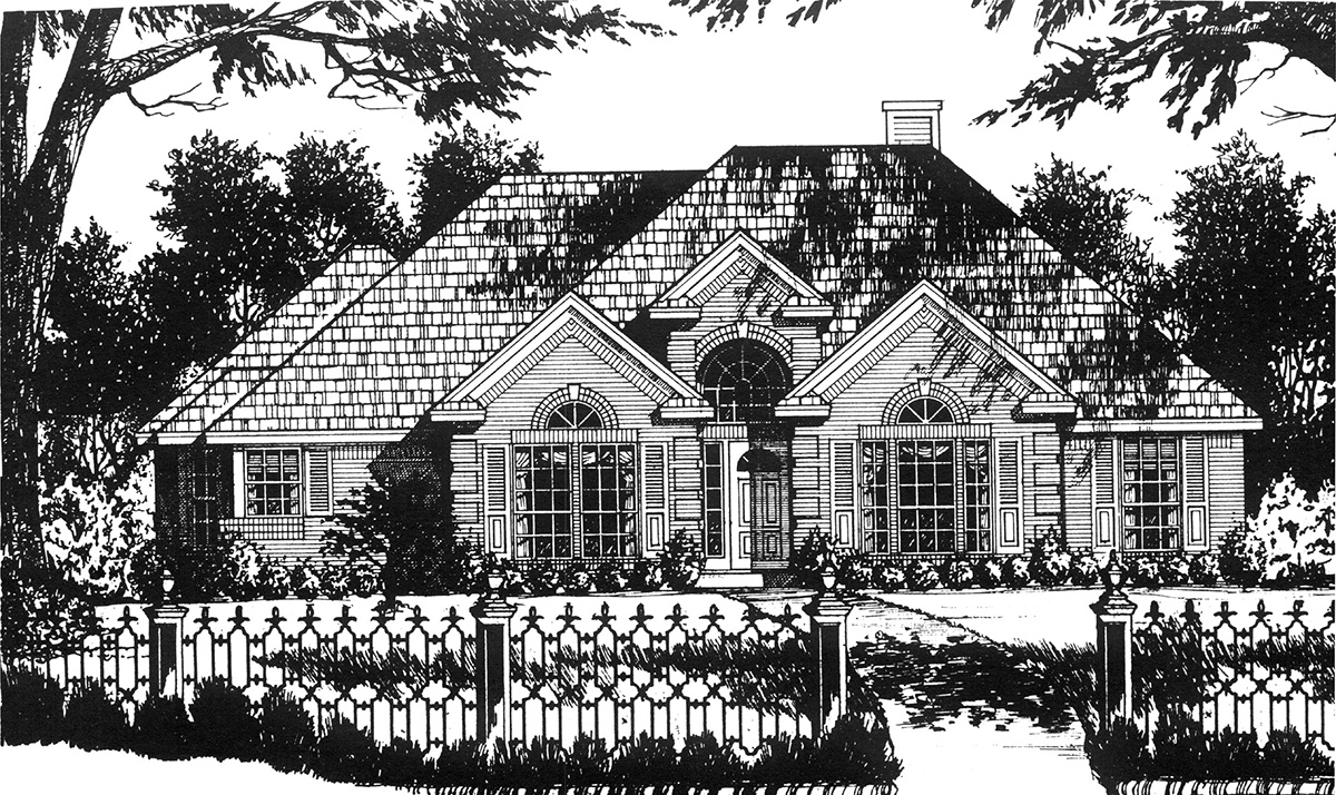American traditional 7497rd architectural designs for American classic house plans