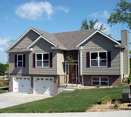 Attractive split level home plan 75005dd 1st floor for Split level house plans with attached garage