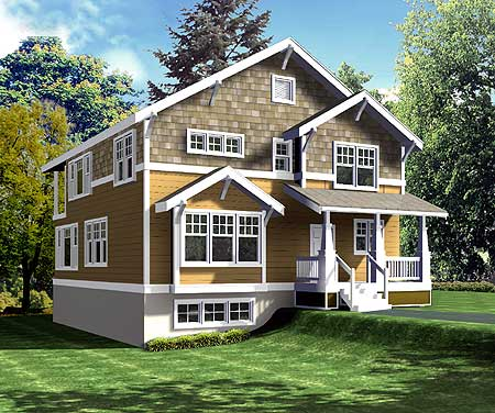 75036dd 2nd floor master suite cad available for Narrow house plans with garage underneath