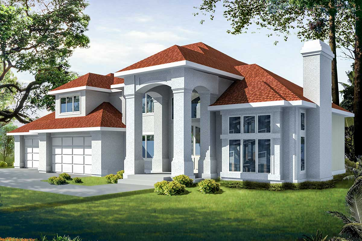 Bold And Beautiful Florida House Plan 75073dd Architectural Designs House Plans
