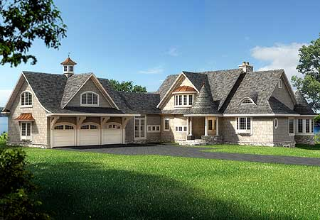 Unique Shingle Style Home Plan 75302eg 1st Floor