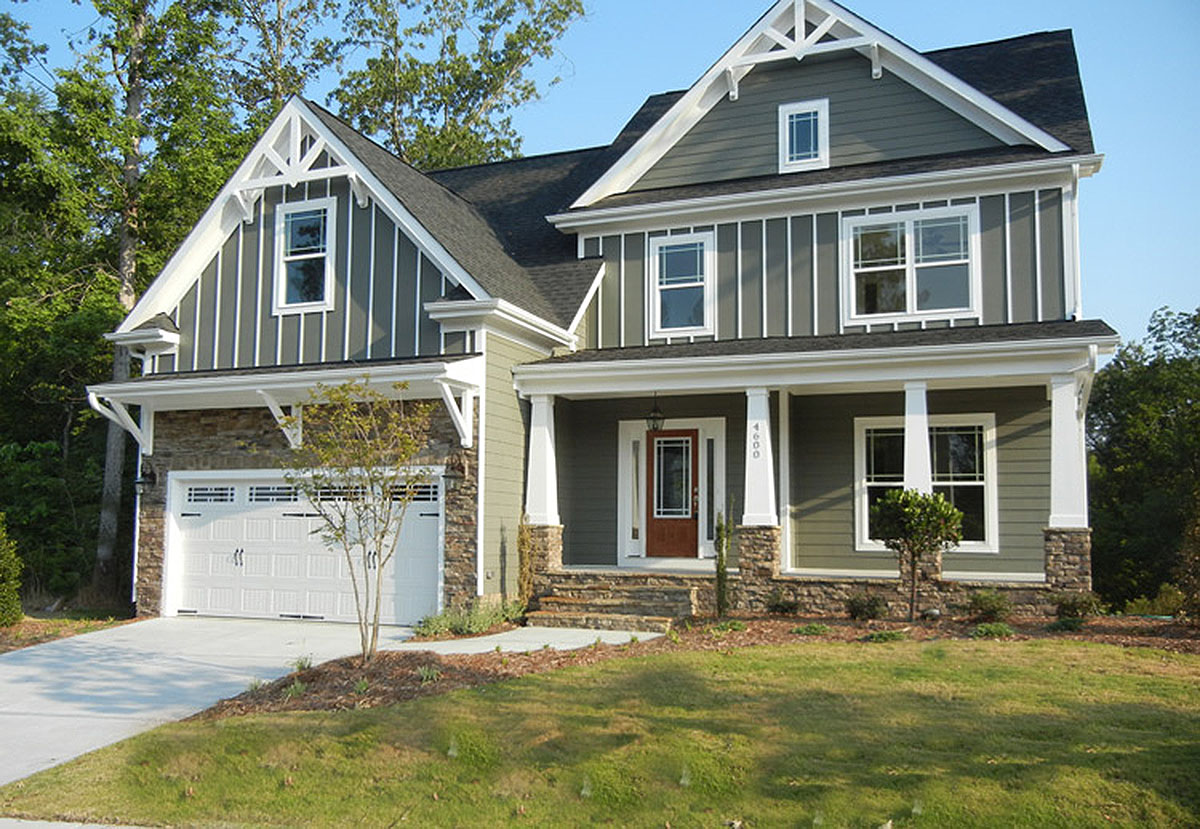 3 bedroom craftsman home plan with bonus 75401gb for Hous plans