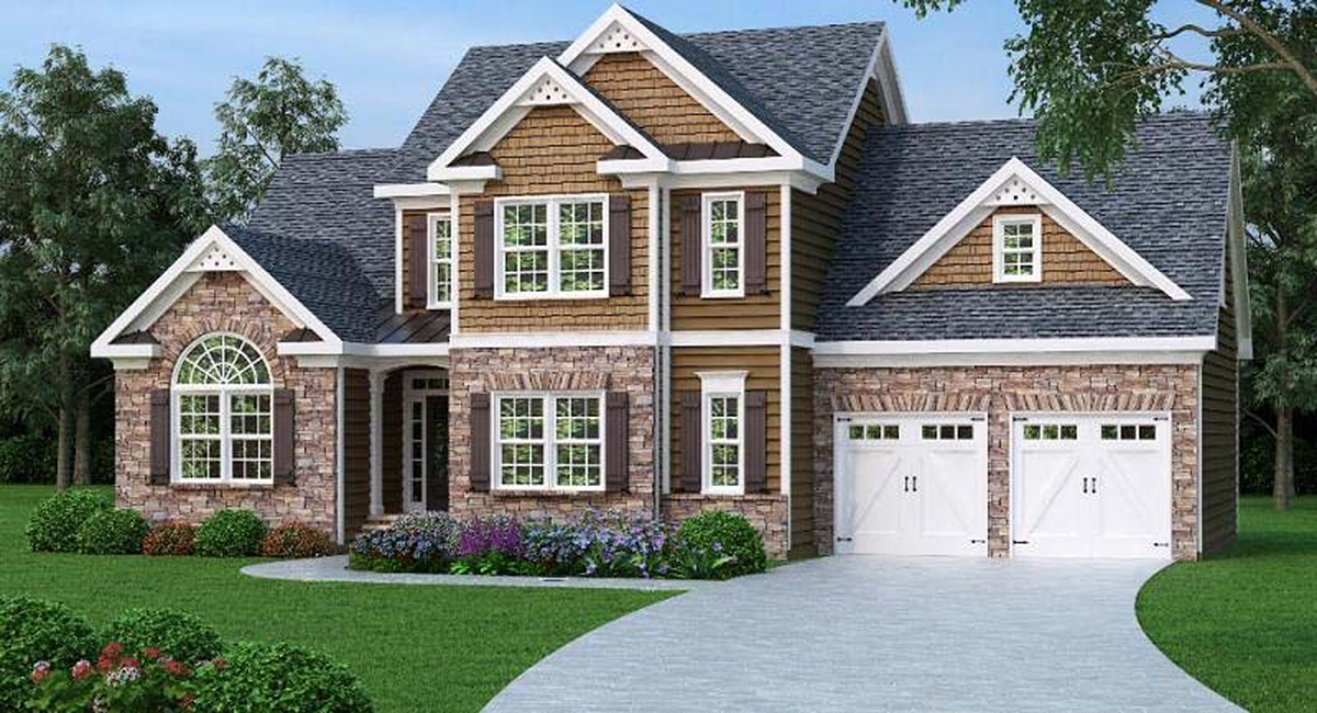 2 story master down home plan 75402gb 1st floor master for 2 story house plans master down