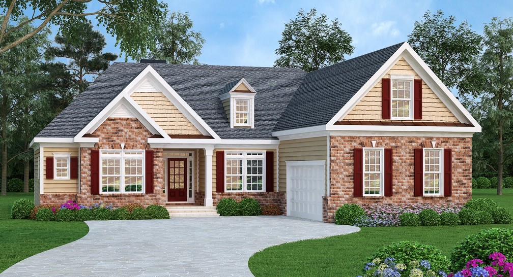 Split Bedroom Ranch Home Plan 75476gb Architectural