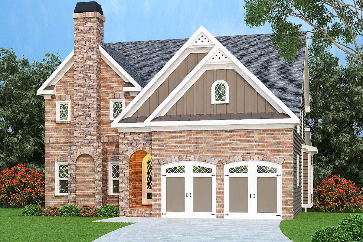 Richly detailed inside and out 75484gb architectural for Detailed house plans