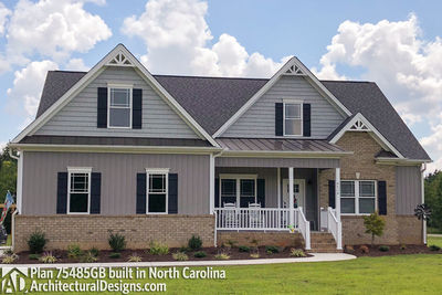 House Plan 75485GB comes to life in North Carolina - photo 001