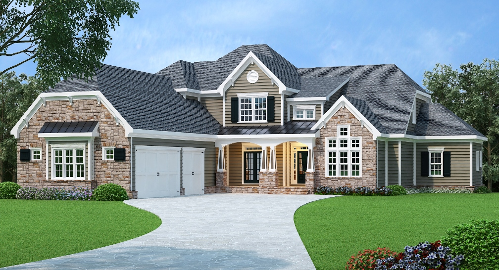 European house plan with master retreat 75501gb for Retreat house plans
