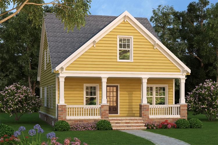 Narrow lot cottage 75532gb architectural designs for Narrow cottage house plans