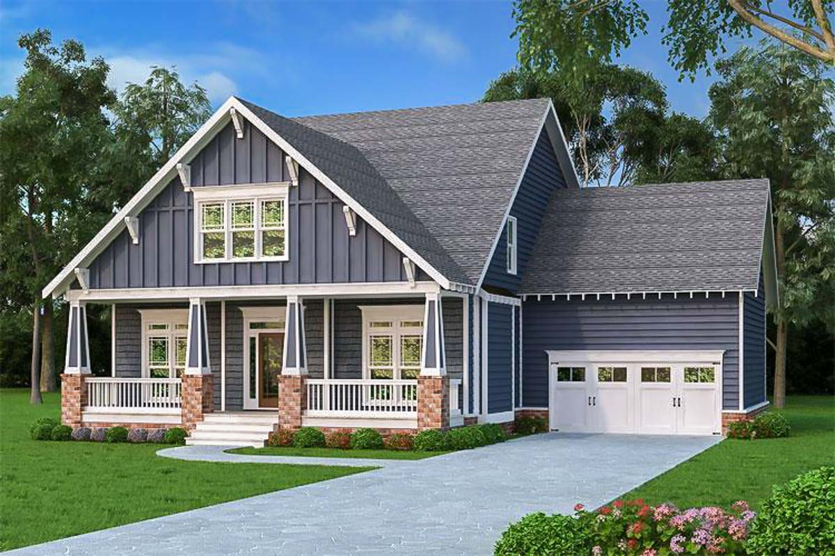 craftsman house plans with porches craftsman cottage with two porches 75537gb 23391