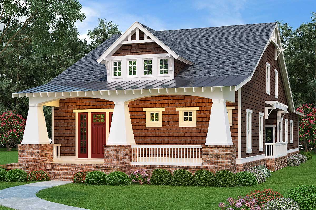 3 Bed Crowd Pleasing Bungalow House Plan 75552gb