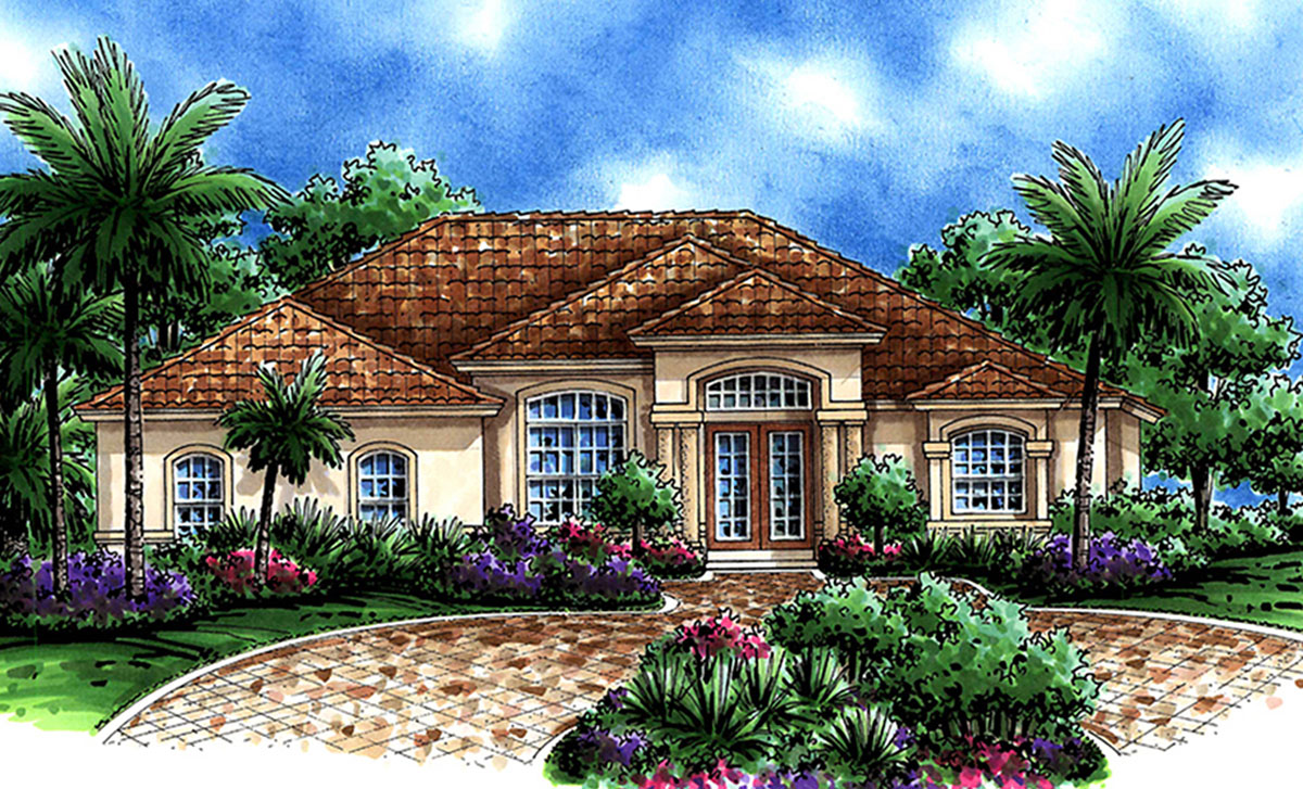 Lanai living 76000gw 1st floor master suite cad for Florida house plans with lanai