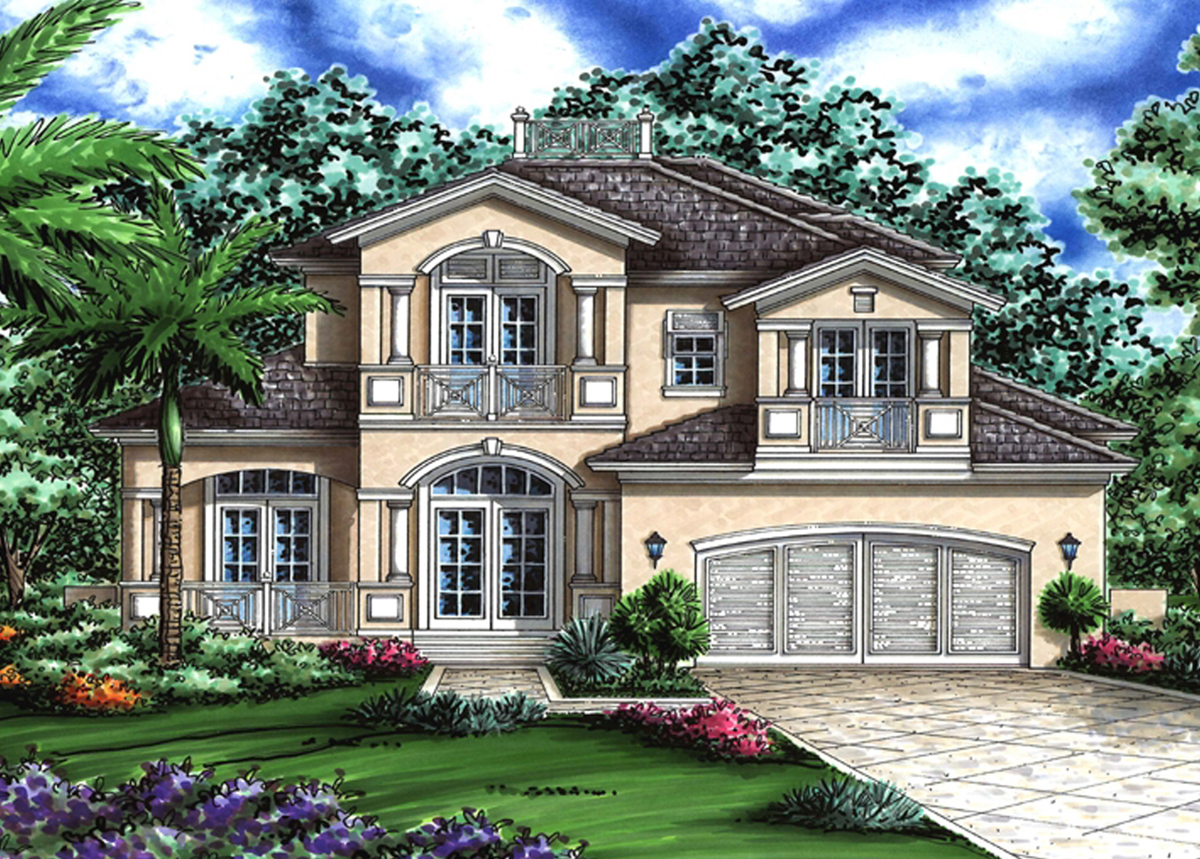 Beautiful florida house plan 76006gw architectural for Florida house plans with photos