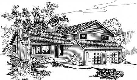 Tri level appeal 77137ld architectural designs house for Tri level house plans