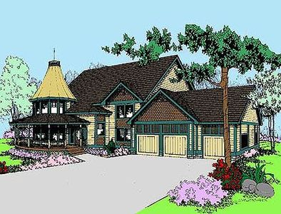 Large Victorian Home Plan - 7847LD thumb - 01