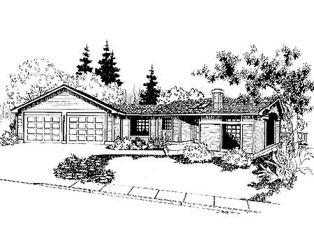 Corner lot sloping house plan 7887ld architectural for House plans for sloping lots in the rear