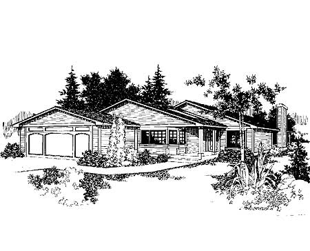 Perfect for a city lot 7933ld architectural designs for City lot house plans