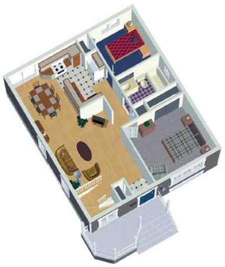 2 Car Garage Apartment Plan Number 94343 With 1 Bed 1: Small Country Home Plan - 80004PM