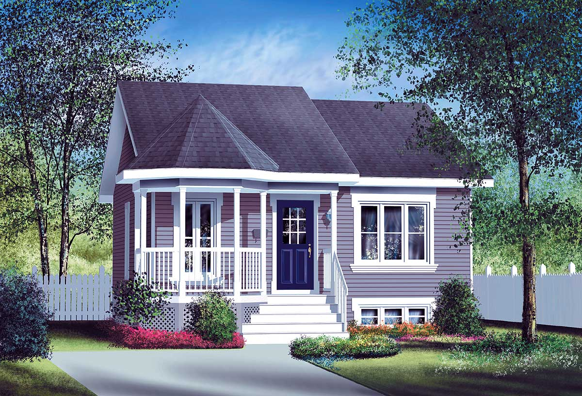 Small country home plan 80004pm 1st floor master suite cad available canadian country - Small houses plans cottage decor ...