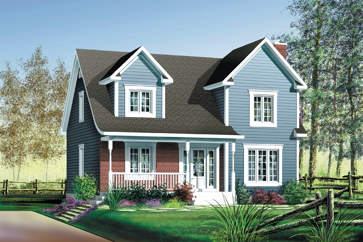 Country style 2 story cottage 80048pm architectural for Two story country style house plans