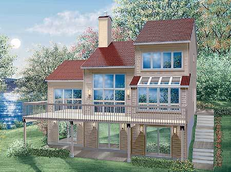 Contemporary vacation retreat 80165pm architectural - Large summer houses energizing retreat ...