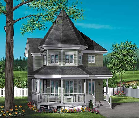 Victorian charmer 80249pm 2nd floor master suite cad for Victorian home designs