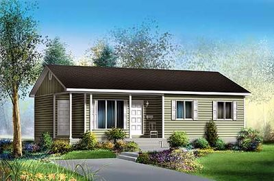 Superb Easy To Build Ranch Home Plan   80323PM Thumb   01