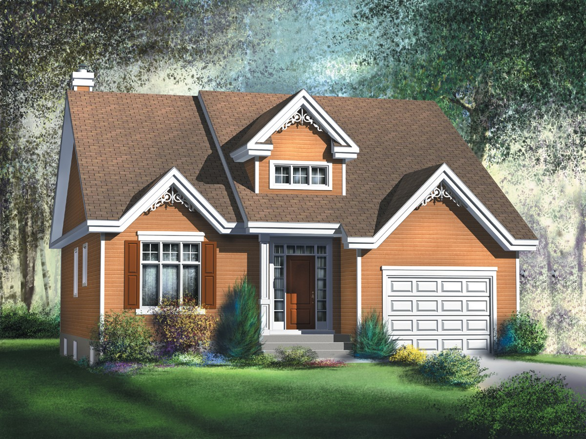 80346pm 1st floor master suite cad available for Canadian bungalow house plans