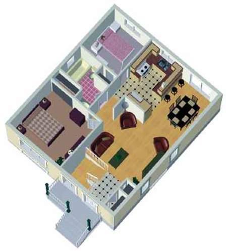 split level house plan with virtual tour - 80355pm | 1st floor