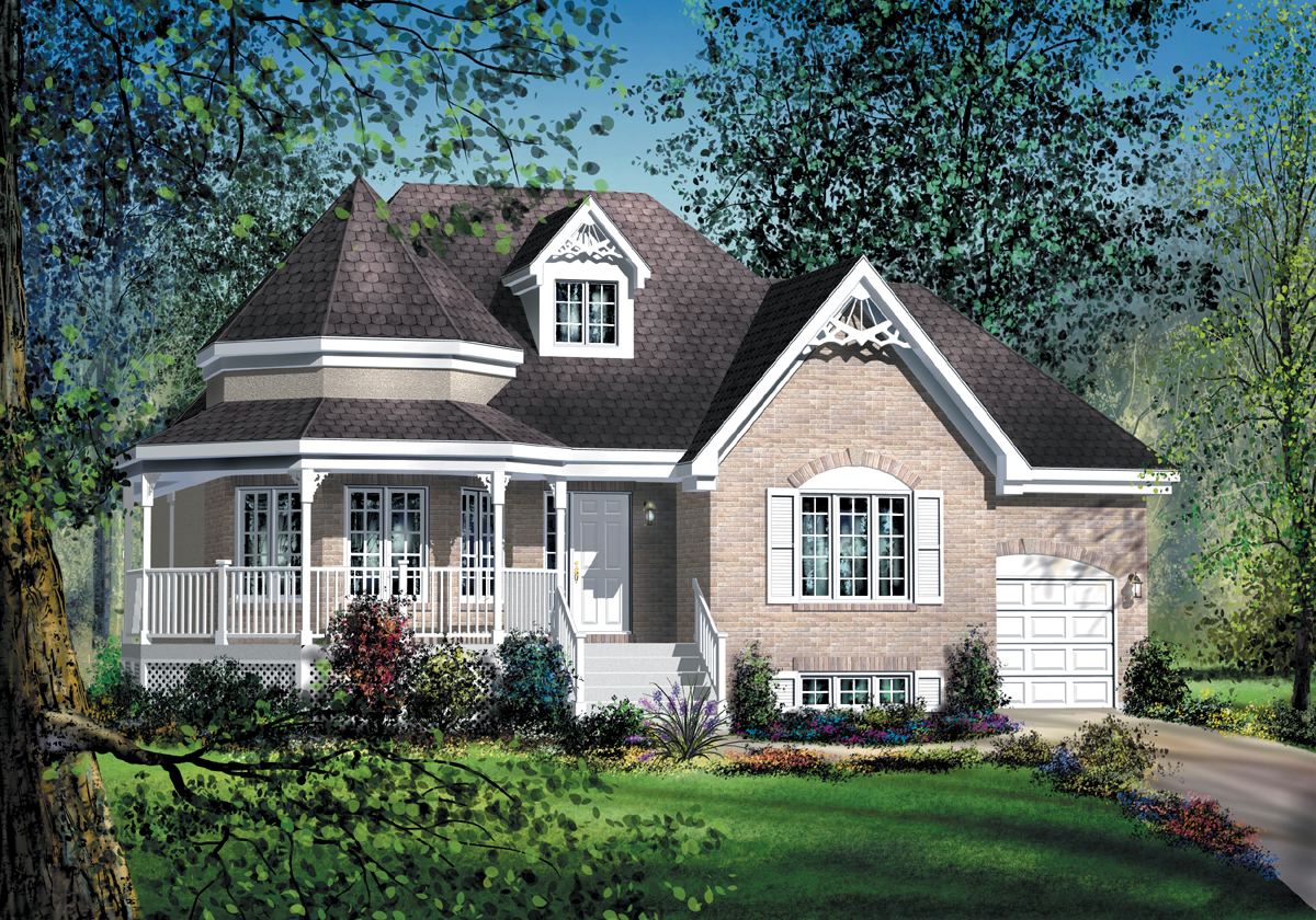 Country house plan with rotunda 80359pm 1st floor for Canadian country house plans