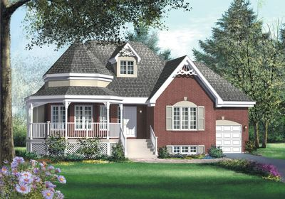 Country Victorian Home Plan - 80360PM thumb - 01