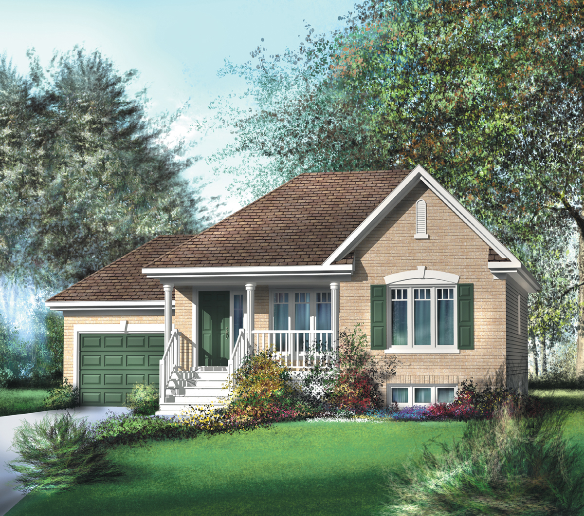 Traditional bungalow house plan 80362pm 1st floor - Bungalows de madera prefabricadas precios ...