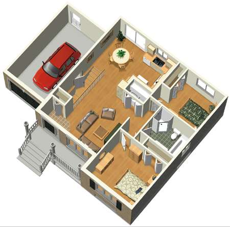 Architectural designs for Small house plan design 3d