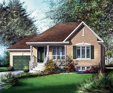 Traditional bungalow house plan 80362pm 1st floor for Canadian house plans bungalow