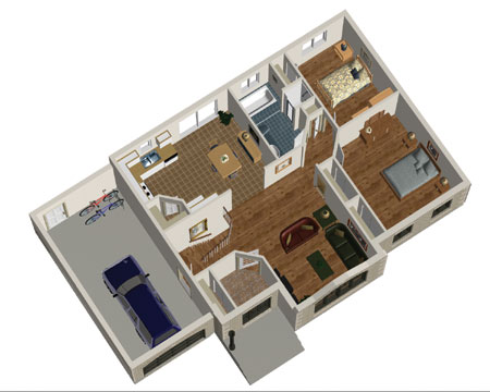 Attractive Two Bedroom Home Plan 80365pm 1st Floor
