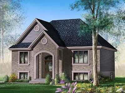 Simple Split Level Home Plan 80367pm 1st Floor Master