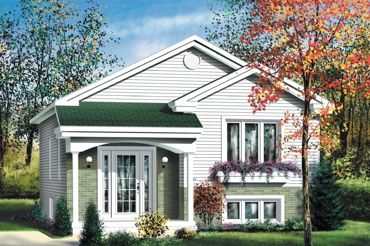 Economical split level home plan 80376pm architectural for Economical house plans