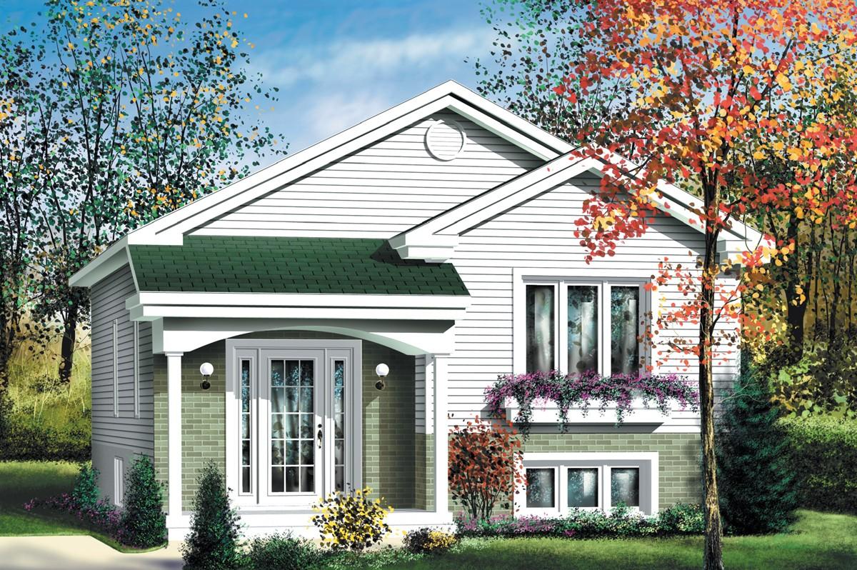 Economical Split Level Home Plan - 80376PM