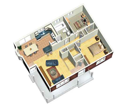 Cozy Two Bedroom House Plan 80378PM 1st Floor Master Suite CAD Available
