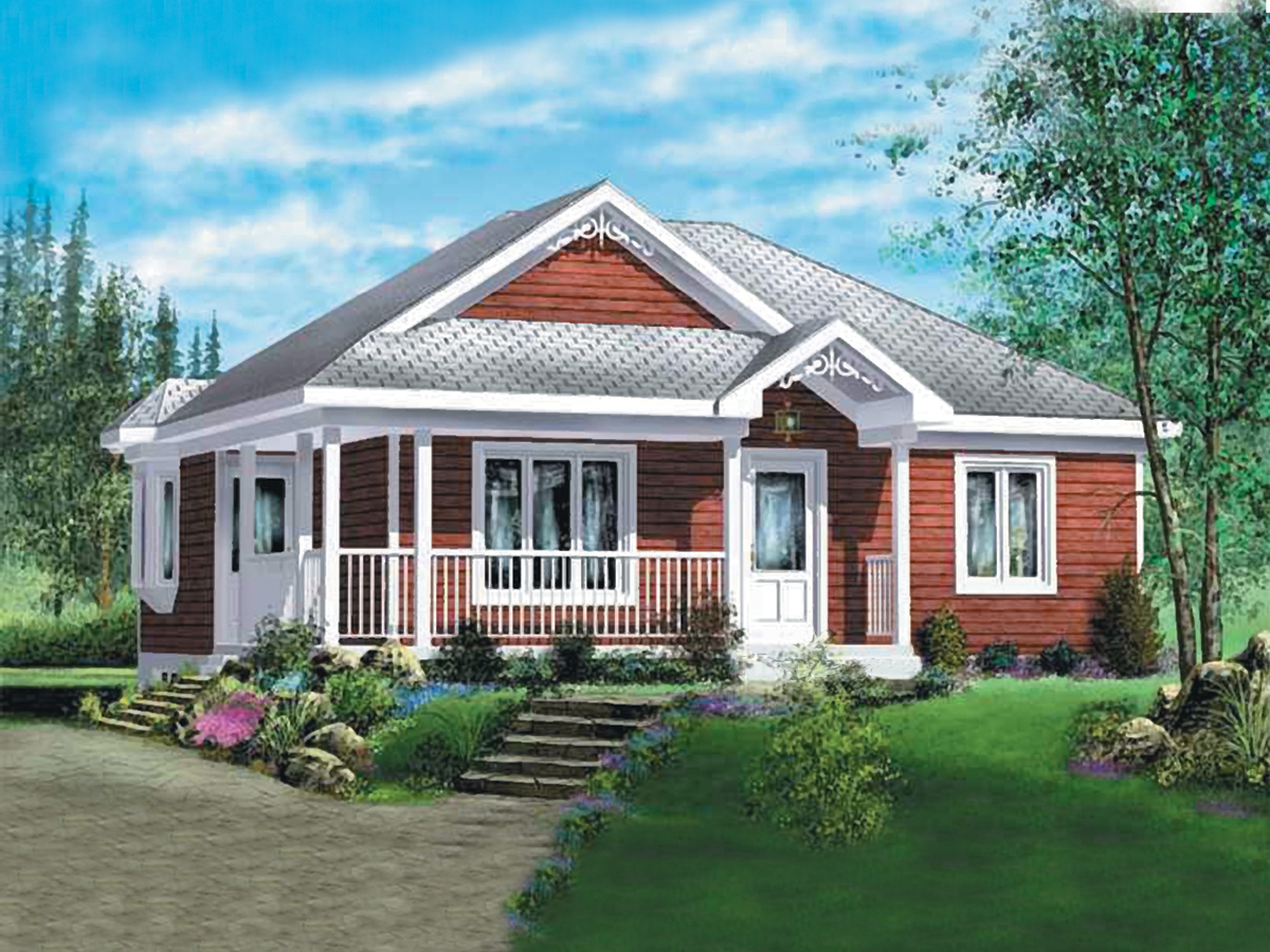 Cozy Two Bedroom House Plan 80378pm 1st Floor Master