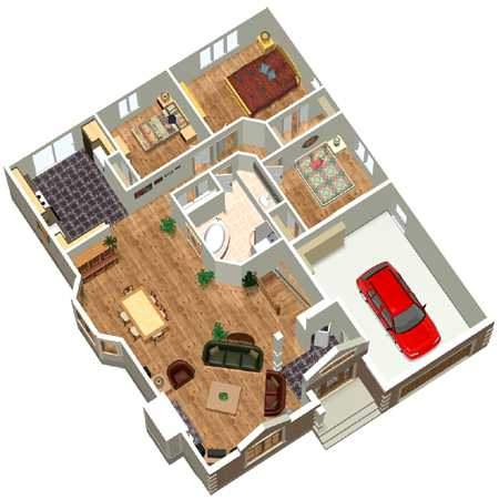 elegant one story house plan 80399pm floor plan main level