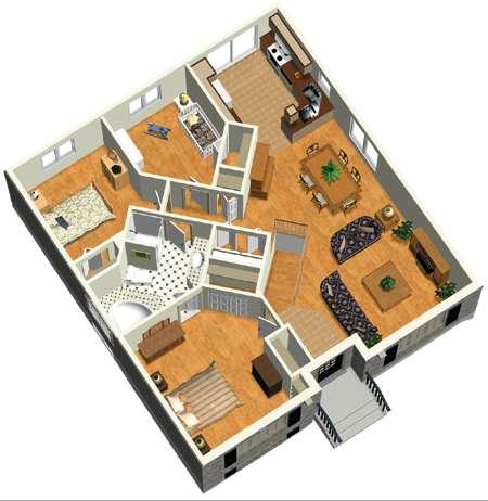 Cozy Bungalow Cottage - 80401PM floor plan - Main Level