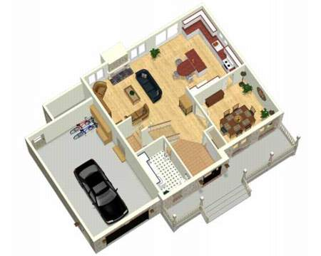 3d Two Story House Plans House Design Plans